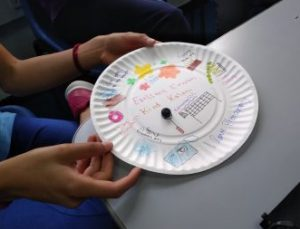 Plate designed by student