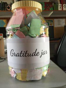 Gratitude Jar full of papers